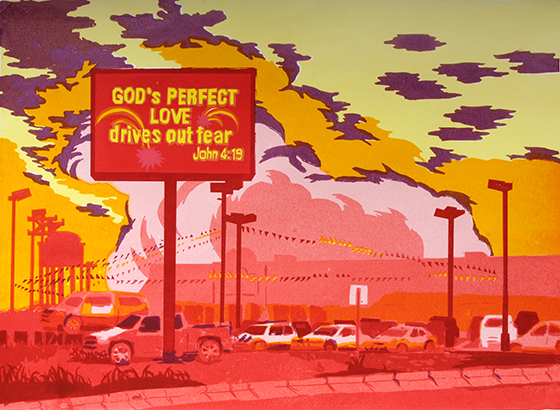 Stella Ebner, Gods Perfect Love from Car Lot on HWY 101