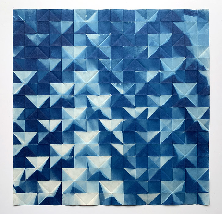 Fritz Horstman - 'Folded Cyanotype 62'