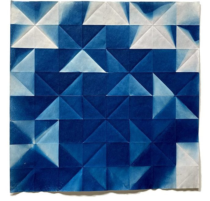 Fritz Horstman-'Folded Cyanotype 60'