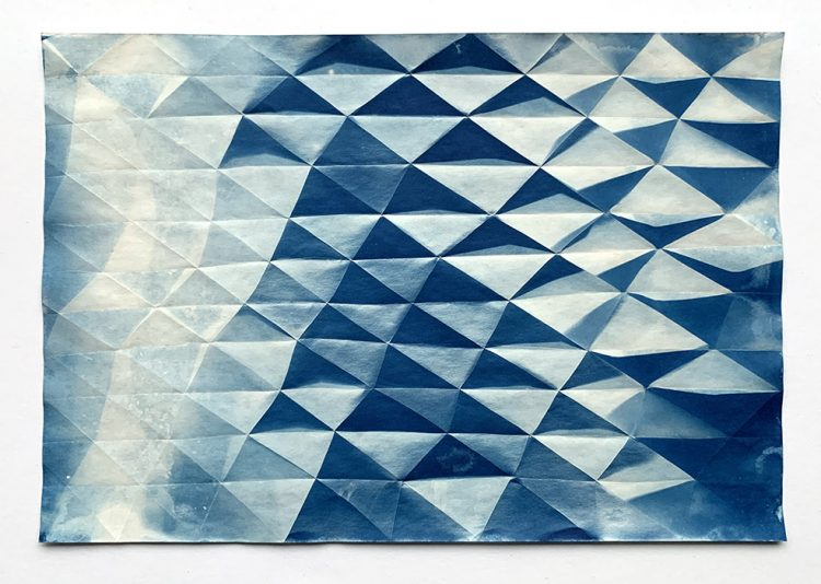 Fritz Horstman - 'Folded Cyanotype 94'