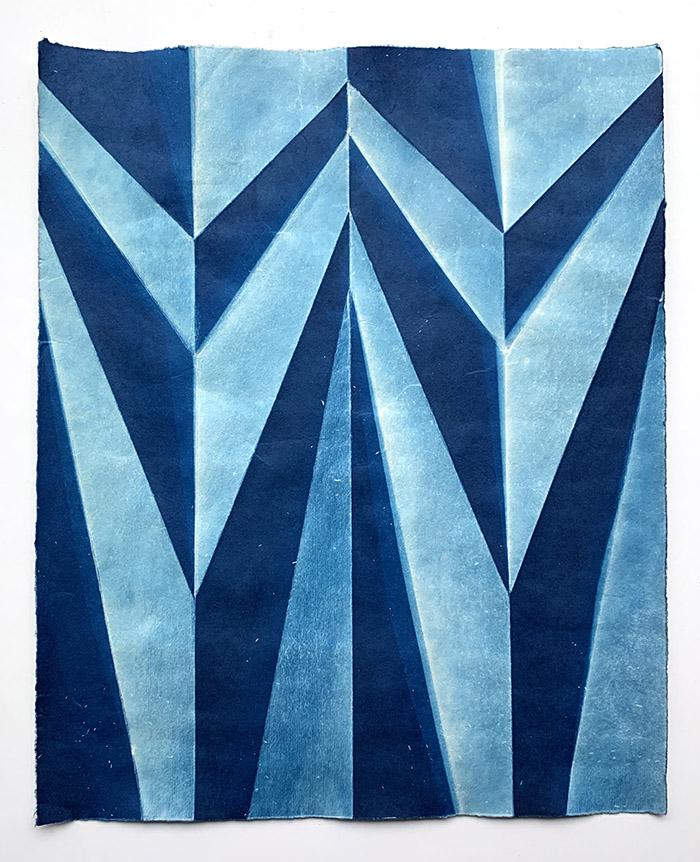 Fritz Horstman - 'Folded Cyanotype 96'